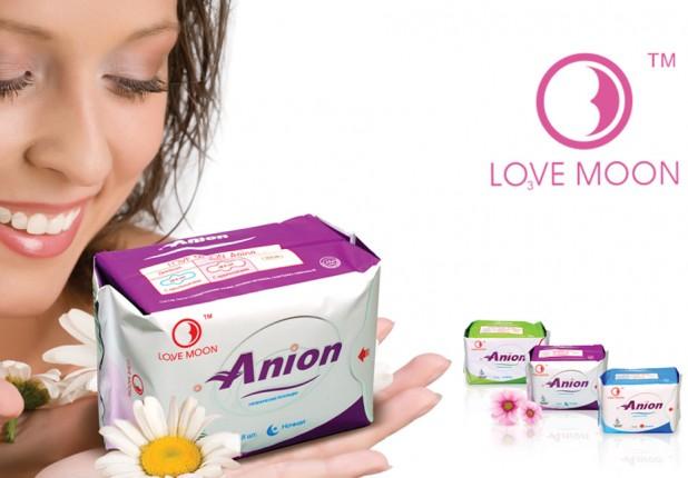 LOVE MOON higieniniai įklotai su anijonais