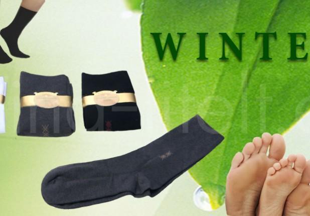 Kojinės WINTEX iš kokoso, moherio ir anglies pluošto